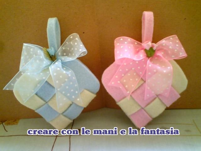 Top CREARE CON LE MANI E LA FANTASIA: Cuore in feltro bomboniera  QR74
