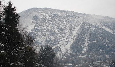 snow falling athmuqam, neelum valley azad kashmir