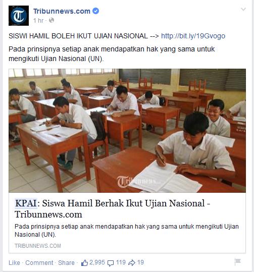 Info: Siswi Hamil Bisa Ikut Ujian Nasional 2015.