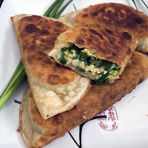 Javaholic: Tofu and Garlic Chive Turnovers