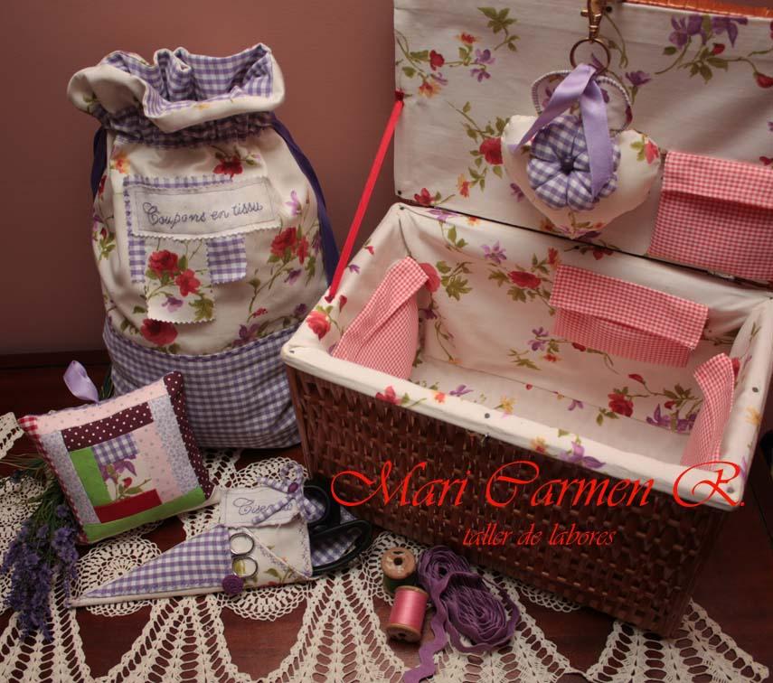 El blog de mari carmen patchwork mu ecas y m s labores marzo 2012 - Set de costura ...