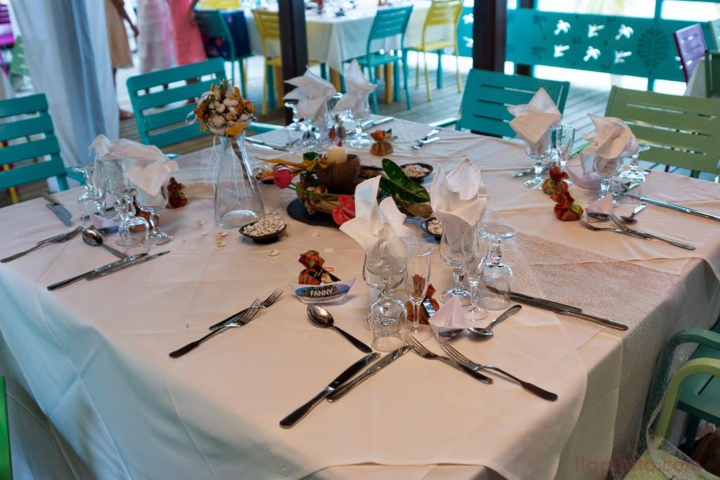 Détail de la déco: la table des mariés
