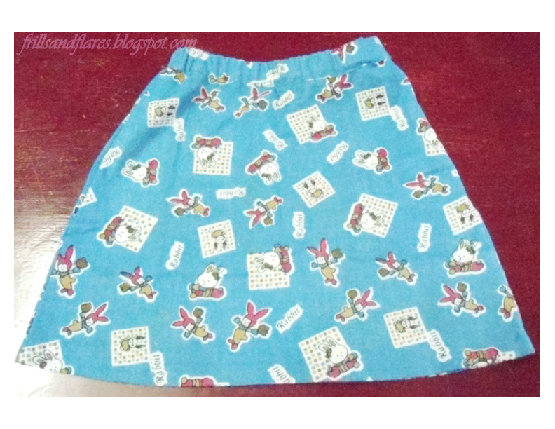 Frills and Flares: A-Line Skirt With Elastic Waistband---Free ...