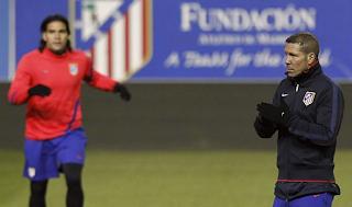 Atlético ya se entrena bajo las ordenes de Simeone
