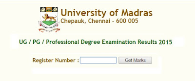 Madras University Results Nov Dec 2015