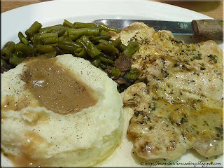 chicken dinner at Magnolia's Veranda