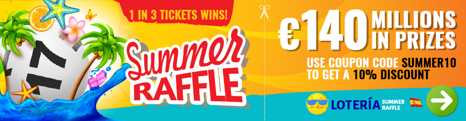 Spanish Summer Raffle Syndicates - 1 in 3 Tickets Wins!