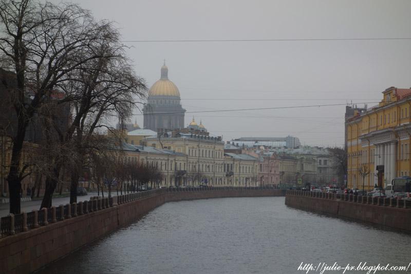 Санкт-Петербург, ноябрь, Мойка, Исаакиевский собор