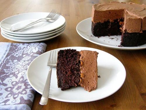 Vegan Chocolate Frangelico Mousse Cake