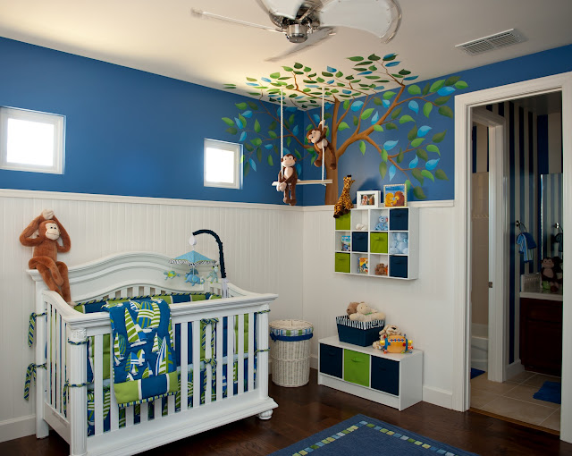 Inspired monday baby boy nursery ideas classy clutter for Nursery room ideas for small rooms