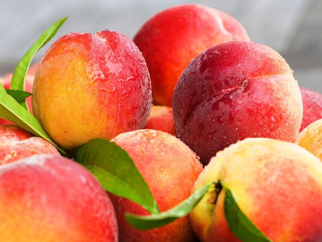 Peaches Nektarines Water Drops Photo Stock HD Wallpaper