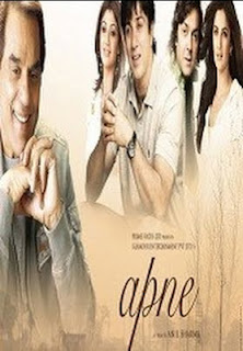 Apne hindi film starring Dharmendra Sunny Deol Bobby Deol Katrina Kaif and Shilpa Shetty on My Bollywood Stars