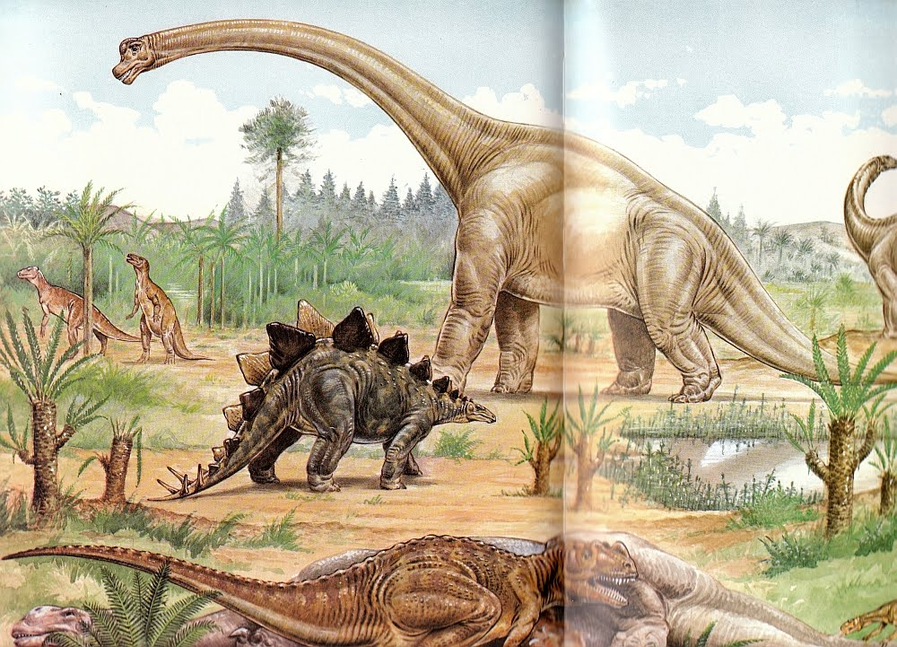 dinosaurs of the jurassic period Primitive fleas were built to sup on dinosaur blood in the jurassic period, more  than 150 million years ago the potential host–parasite.