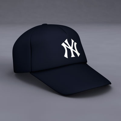 putting on Yankees caps),