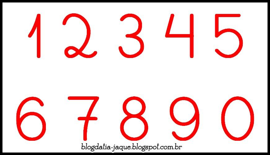 Moldes dos Números Cursivos