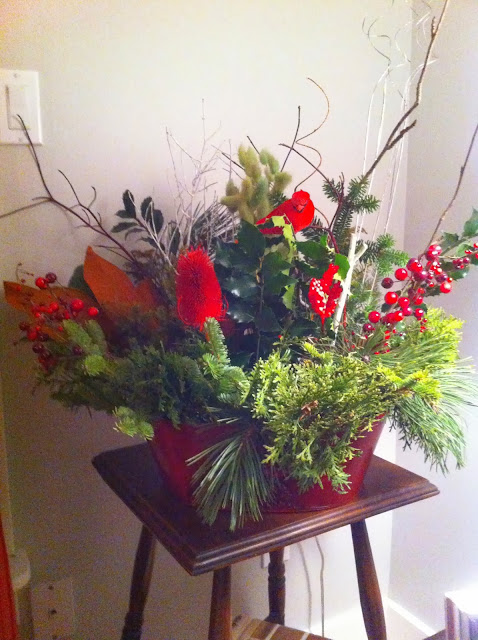 Christmas, decor, red and green