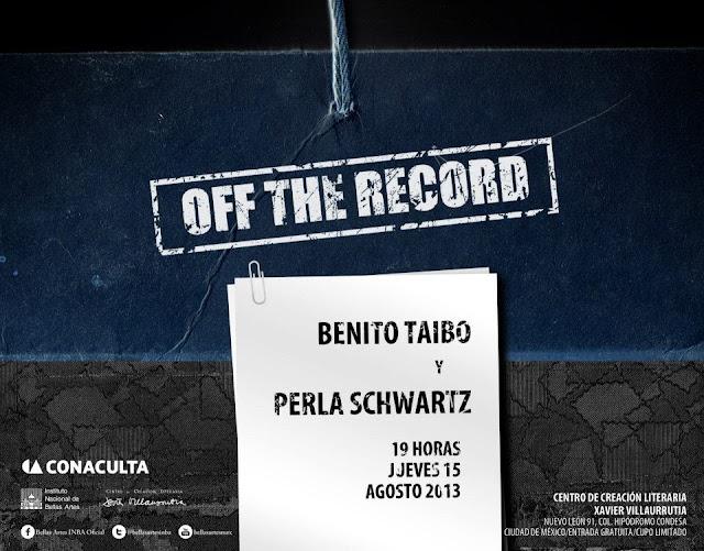 """El ciclo """"Off the record"""" presenta a Benito Taibo en el CCLXV"""