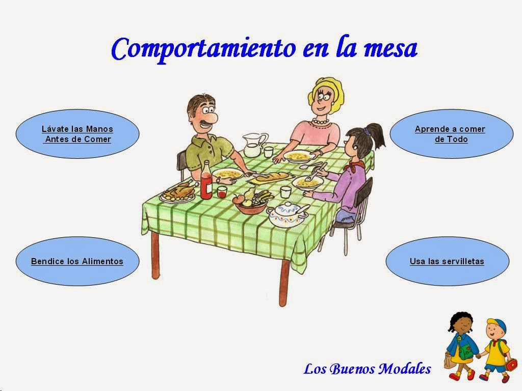 Children welcome comportamiento en la mesa for Habitos en el comedor