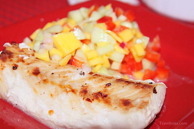 broiled mahimahi with mango salsa recipe  travelentz