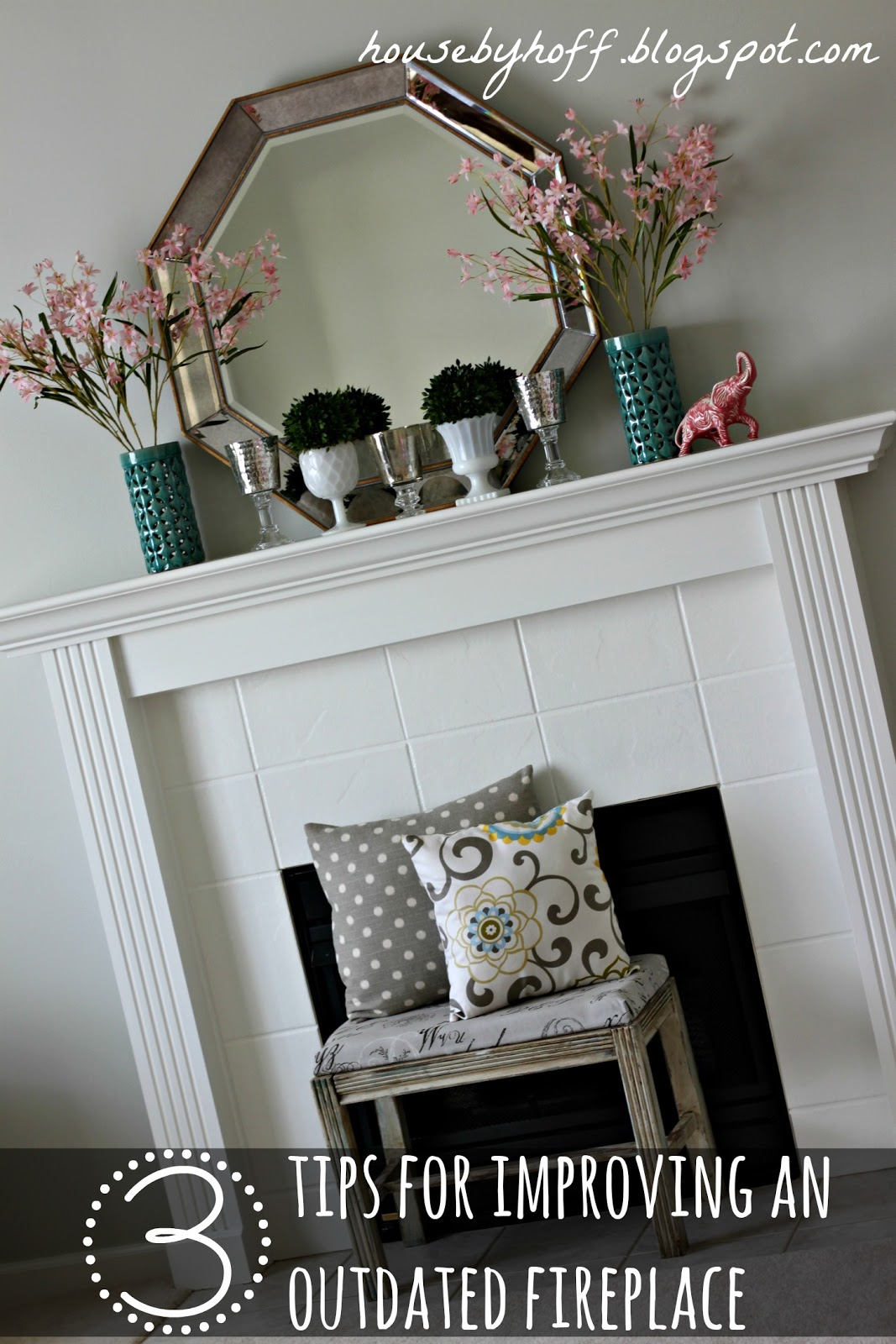 easy ways to improve an outdated fireplace house by hoff