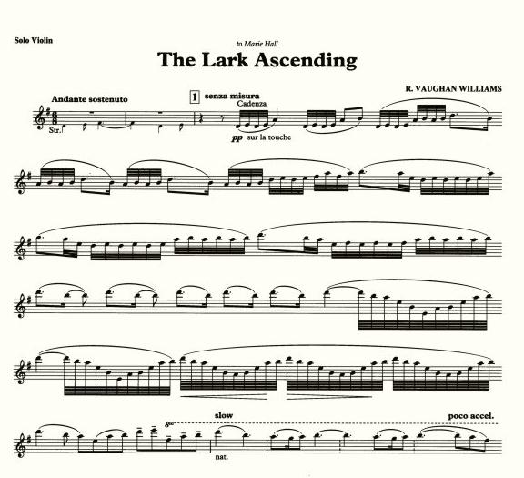 Vaughan Williams ~ The Lark Ascending - YouTube