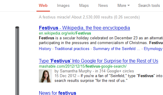 Festivus,Google,Easter Eggs