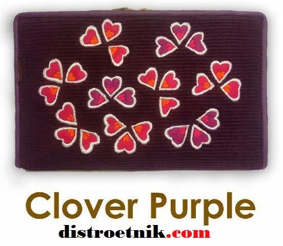 model terbaru dompet hpo namian clover purple