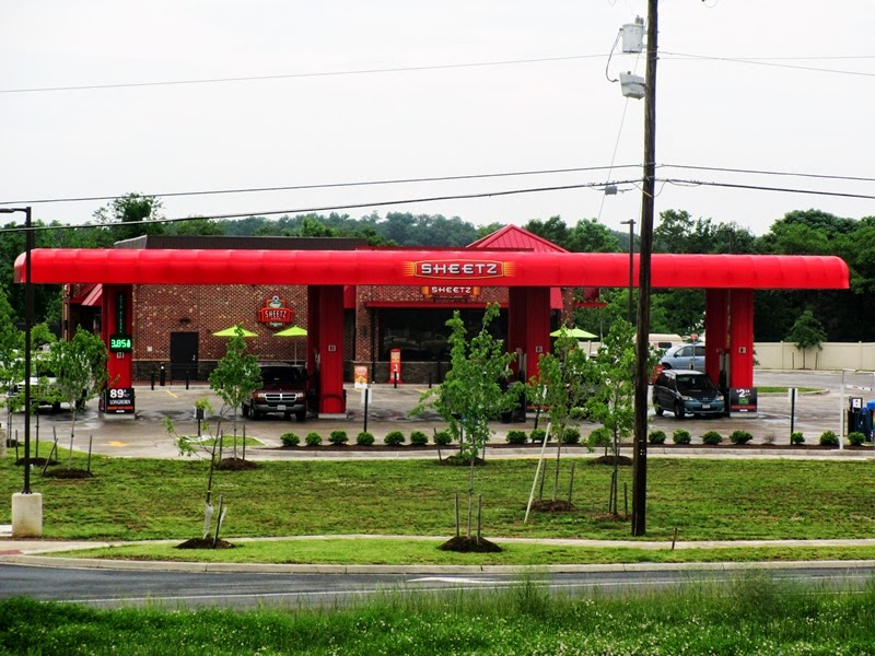 View of Sheetz Gas Station from Accross the Street