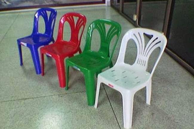 เก้าอี้พลาสติกมีพนักพิง เกรด A-B