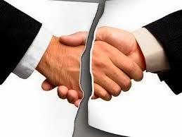 acordo não cumprido