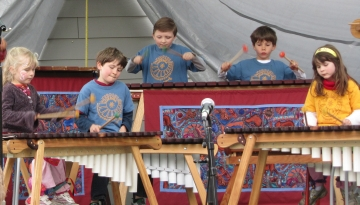 Marimba students performing