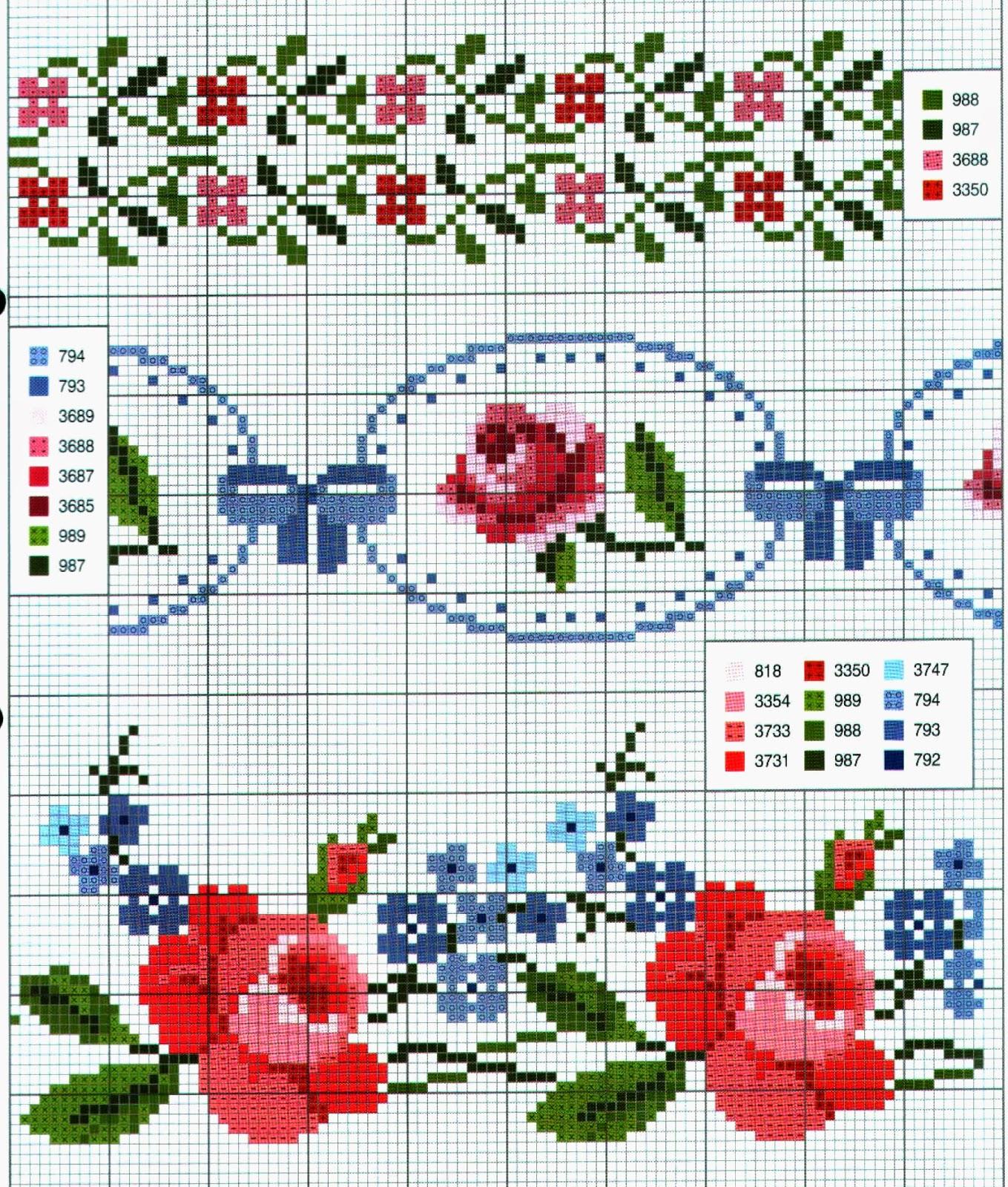 Схемы до 15 цветов цветы вышивок крестом