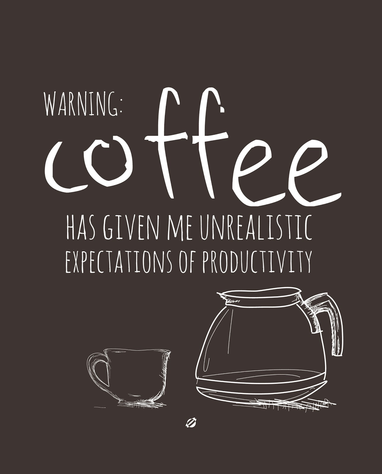 LostBumblebee 2013 - WARNING COFFEE- Free Printable