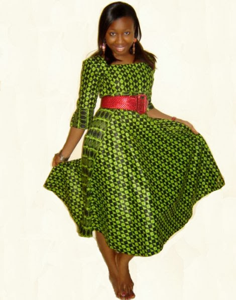 Green And Black Ankara Design Check Out Simple Gown