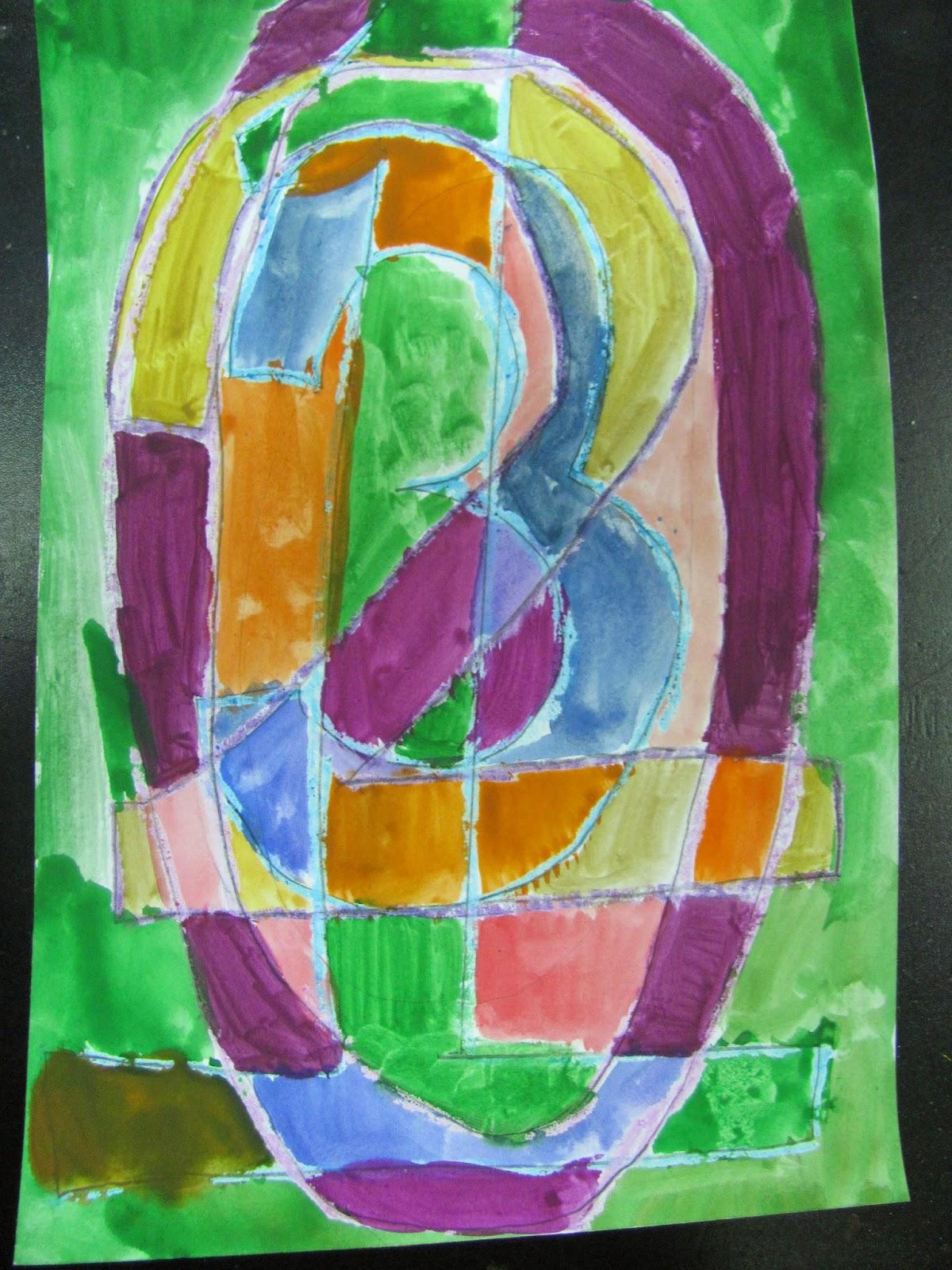 ES MS Art at Dalat: 3rd Grade Project: Jasper Johns - Numbers