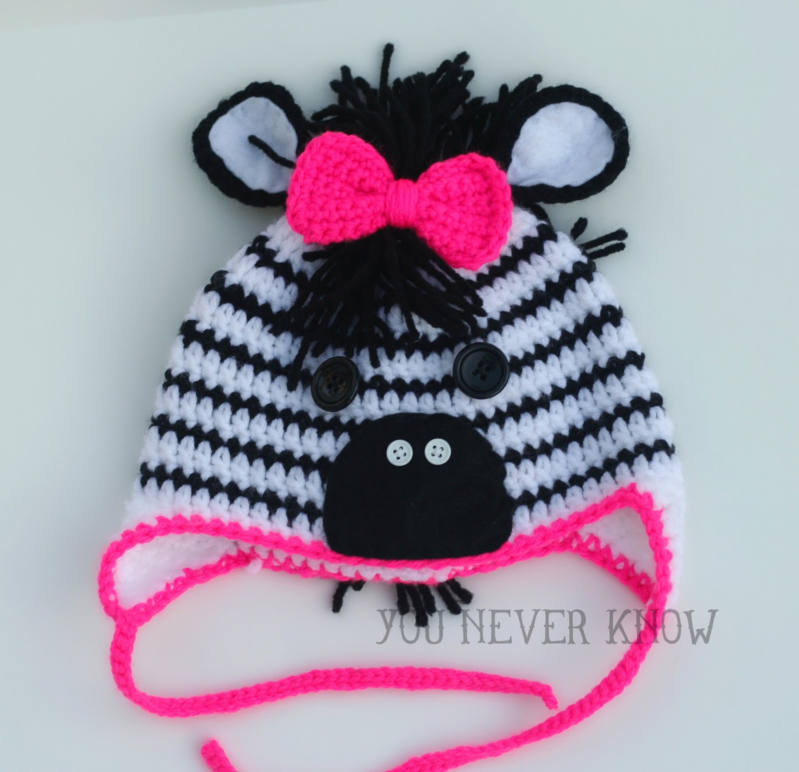 Crochet Pattern Zebra Hat : You Never Know by Andrea VanHooser Womack: Claras Zebra Hat