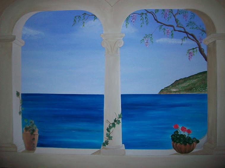 affreschi murali finestre finte : Trompe loeil, Murales, Decorazione pareti, camerette bambini: Trompe ...