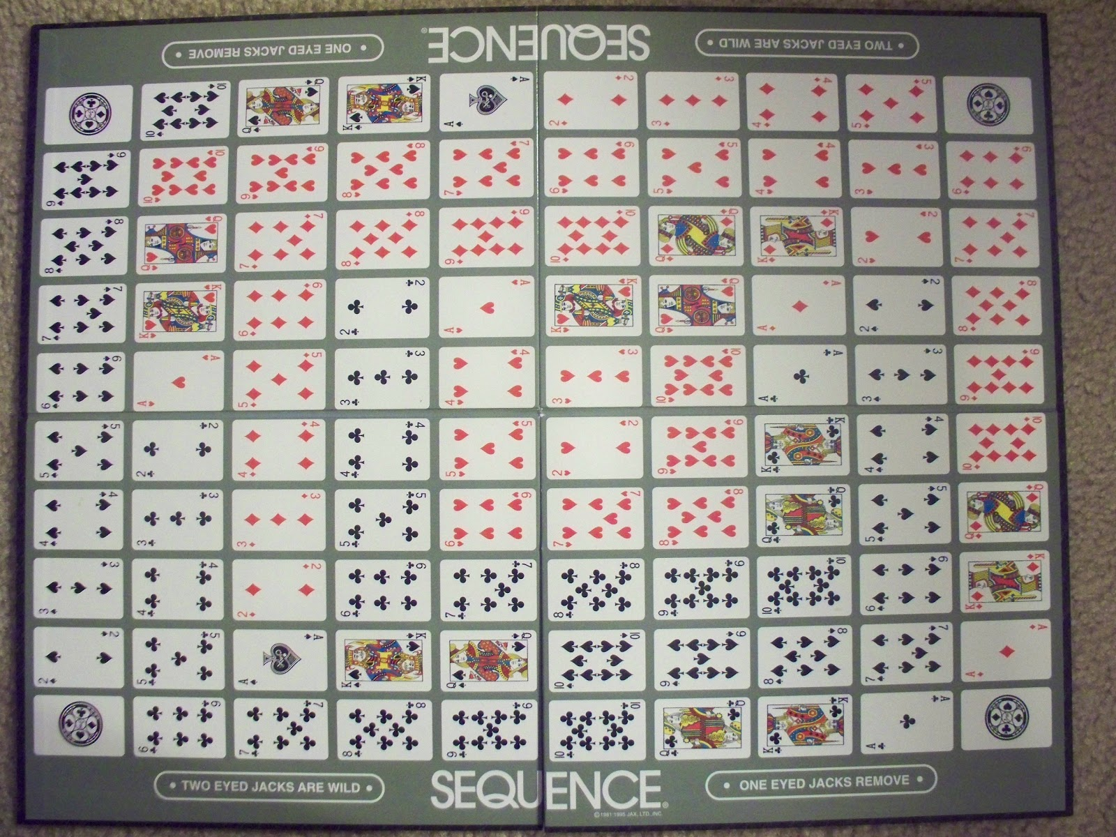 rules of sequence board game