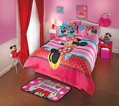 bedroom decor ideas and designs top ten minnie mouse. Black Bedroom Furniture Sets. Home Design Ideas