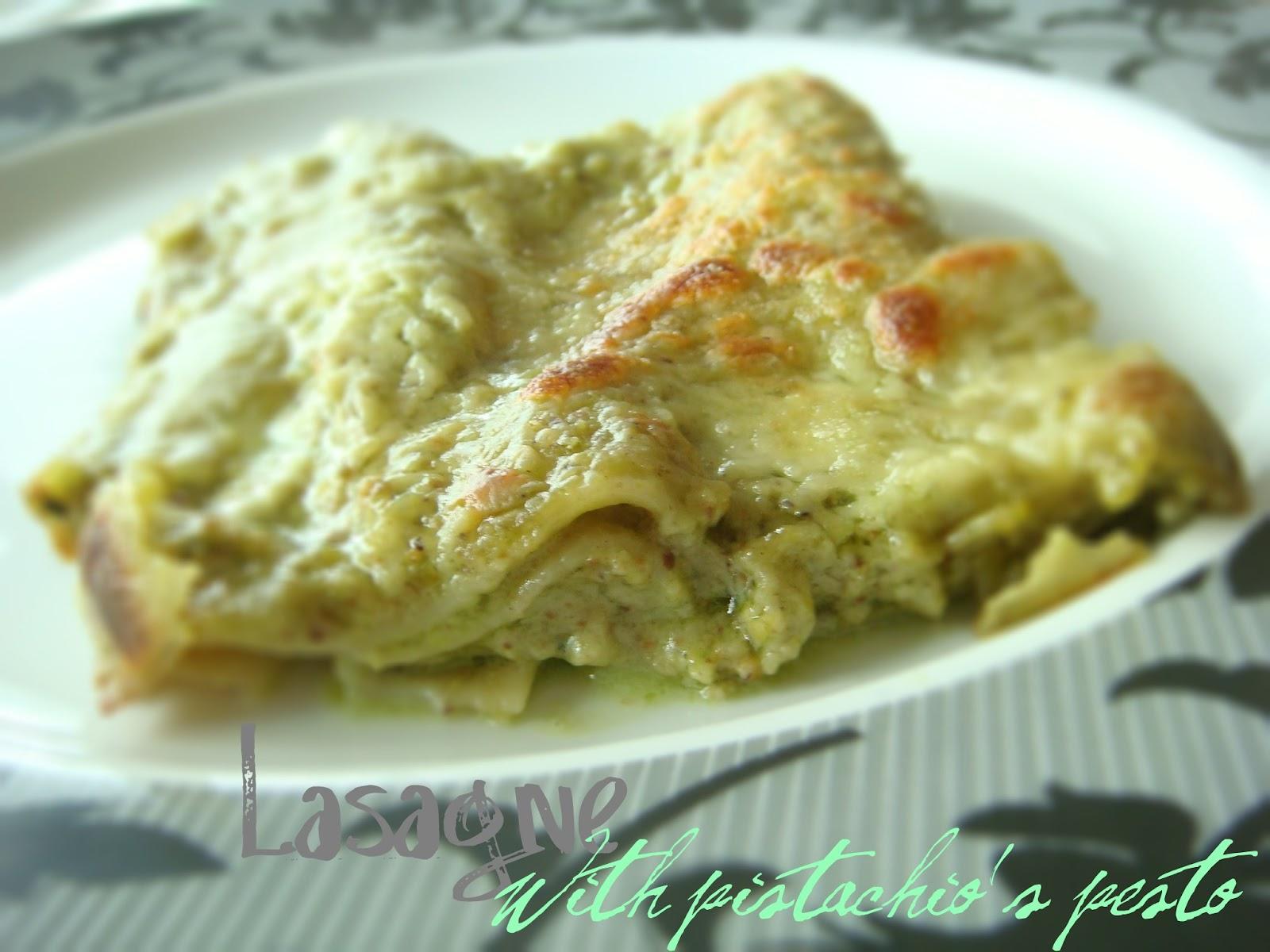 Ricetta Lasagne with pistachio s pesto Le Sagne Verdi