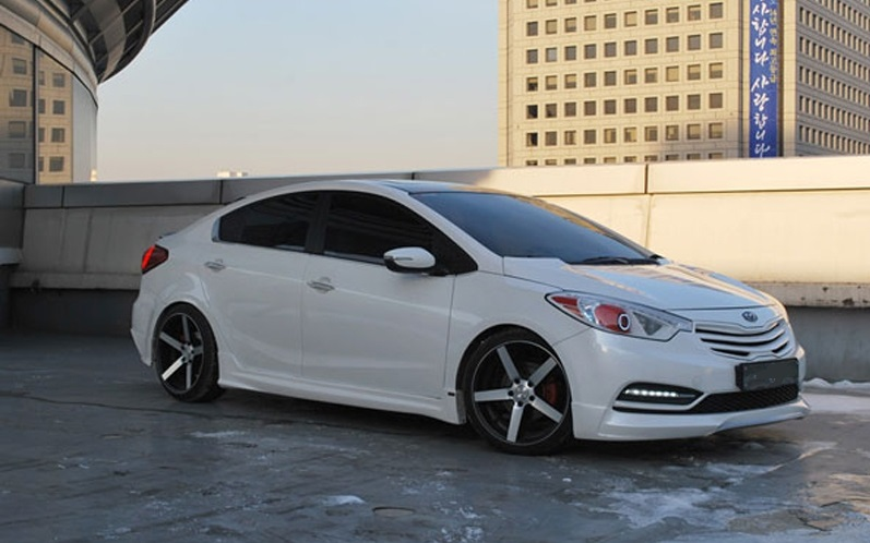 asian auto digest  new kia k3 cerato forte modified bodykit