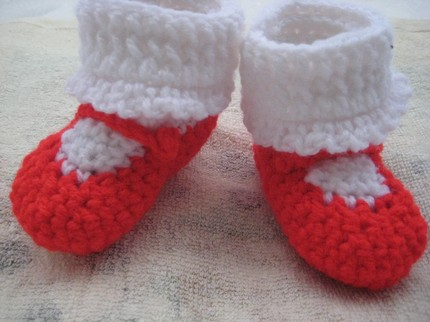 Knitting Pattern For Baby Tennis Shoes : KNITTED BABY SHOE PATTERNS 1000 Free Patterns