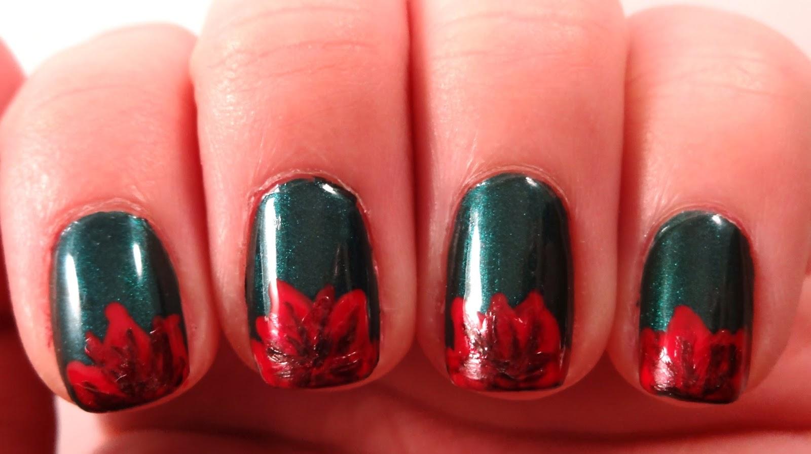 Poinsettia Nail Details