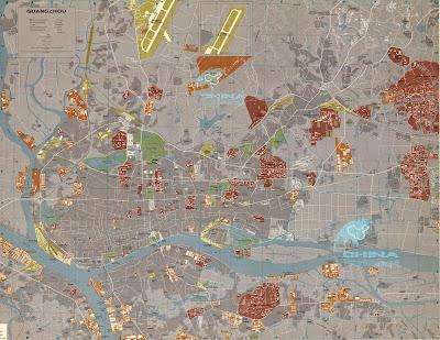 Mapa de Guangzhou - China