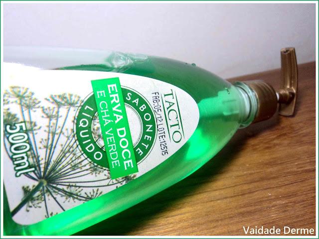 Sabonete Líquido Tacto Erva Doce e Chá Verde da VidalLive Cosméticos