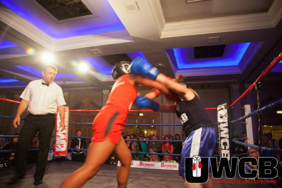 Ladies Ultra White Collar Boxing - Brighton - Tess Agnew and Amy Stribbling