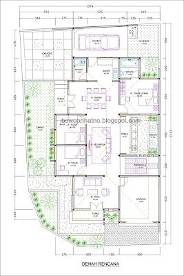 desain rumah dua muka