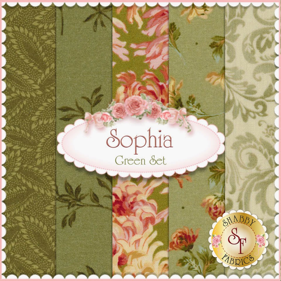 Sophia 5 FQ Set | Green | Shabby Fabrics