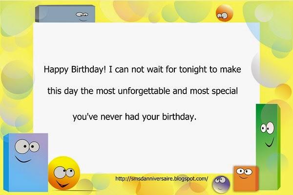 SMS  joyeux anniversaire
