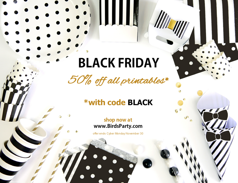 BLACK FRIDAY: 50% Off ALL Printables in Store!